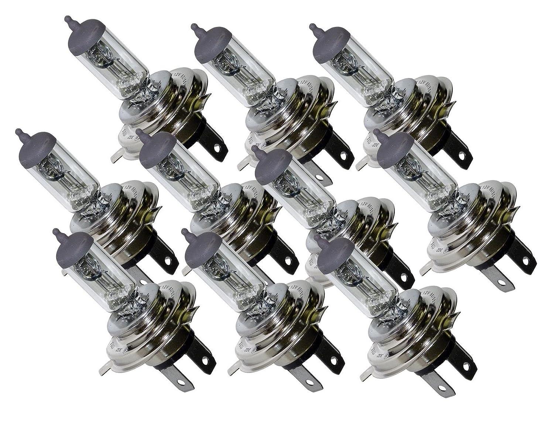 Classic 10x H4 472 Headlamp Headlight Car Bulbs 12v 60//55w 3 PIN New In Box