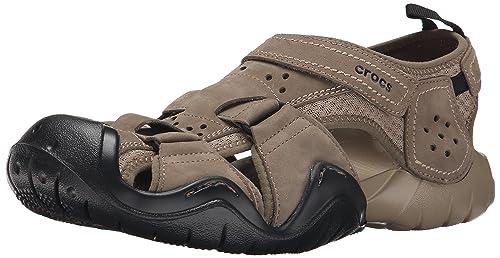 2c5f632296b2 Crocs Men s Swiftwater Leather Fisherman Sandal