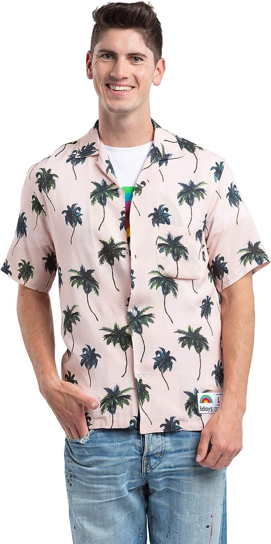 Sdays - Camisa Casual Hawaiana con Estampado de Palmeras años 80 Pink All Over XL: Amazon.es: Ropa y accesorios