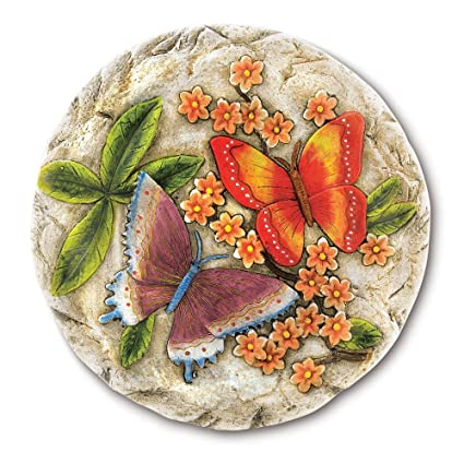 Gifts U0026 Decor Butterfly Flower Garden Stepping Stone