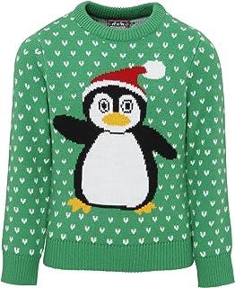 christmasshop Felpa/Maglia Natalizia con Pinguino - Bambini UTRW3806_4