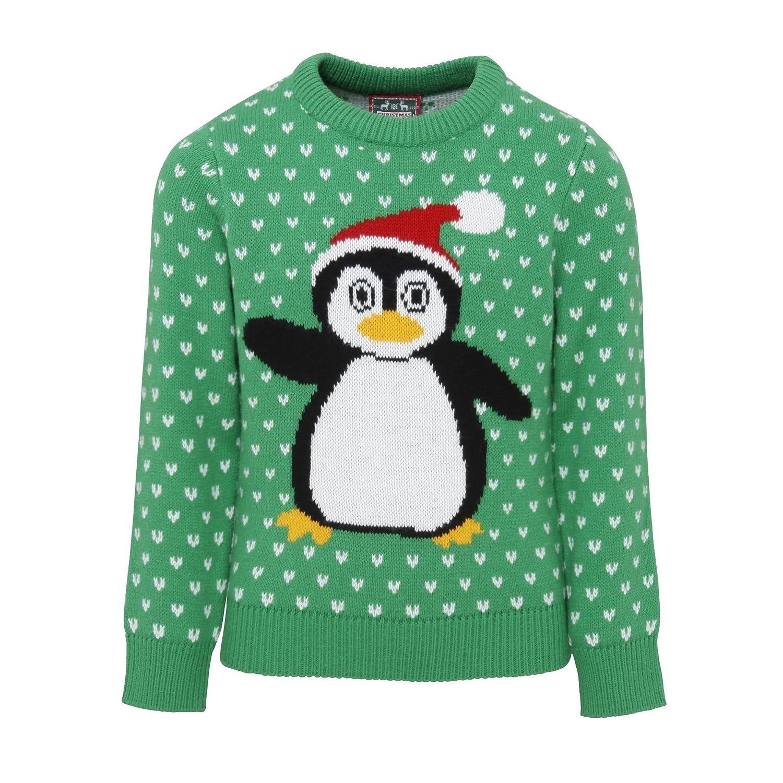 ChristmasShop Childrens/Kids Penguin Christmas Jumper/Sweatshirt Christmas Shop UTRW3806_4