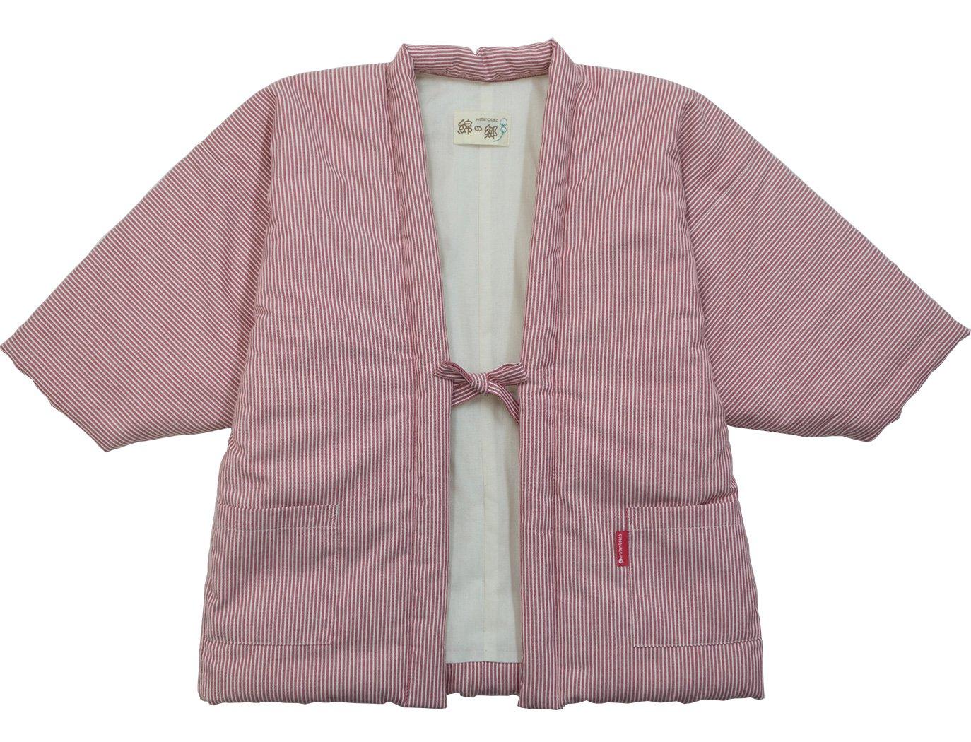 [어린이용 한텐] 와타노사토 히코리무늬 리뉴얼 어린이 한텐 일본 방한복 일본제 (옵션: 레드, 네이비/ 120-140)