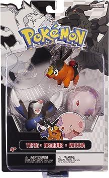 Jakks Pacific - Pack Figurines - Pokémon Tepig - Munna - Drilbur ...