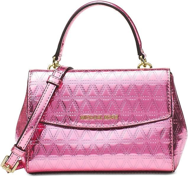 ef69b96e2d57 Michael Kors Ava Mini Specchio Leather Crossbody Bag, Steel Blue ...
