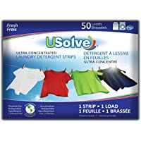 USolve New Eco-Friendly Ultra Concentrated Laundry Detergent Strips (50 Loads), The Future of Laundry - Fresh Scent…