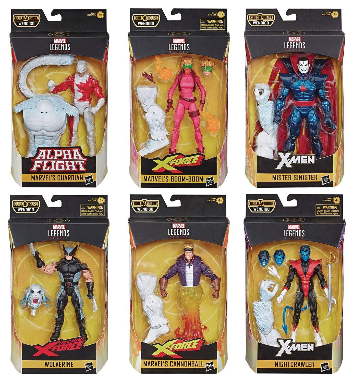 X-Force Marvel Legends Wave 1 Set of 6 Figures (Wendigo BAF)