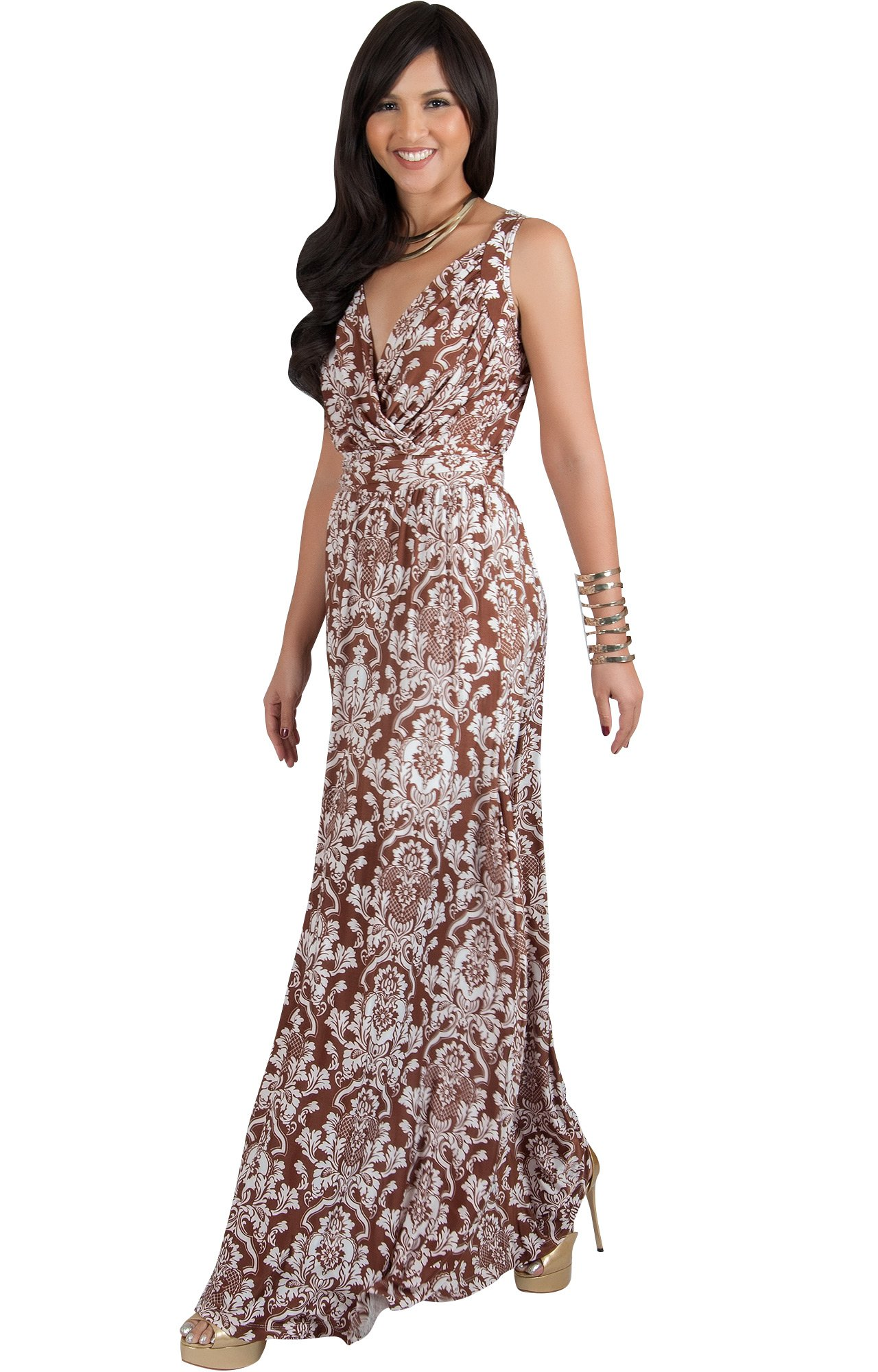 ff5ad02ce954 ... Sun Vintage Casual Floral Print Work Party Jersey Sexy Gown Gowns Maxi  Dress Dresses
