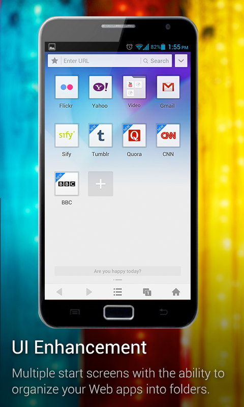 Screenshots for UC Browser