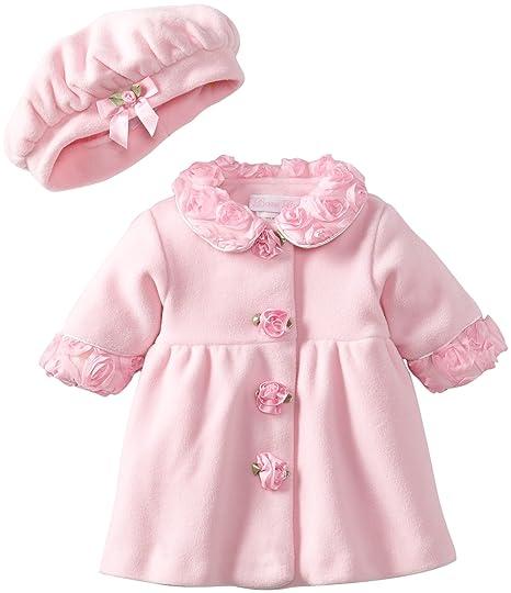 7b32a195e7717 Amazon.com: Bonnie Baby-girls Newborn Fleece Coat And Hat Set, Pink, 6X:  Clothing