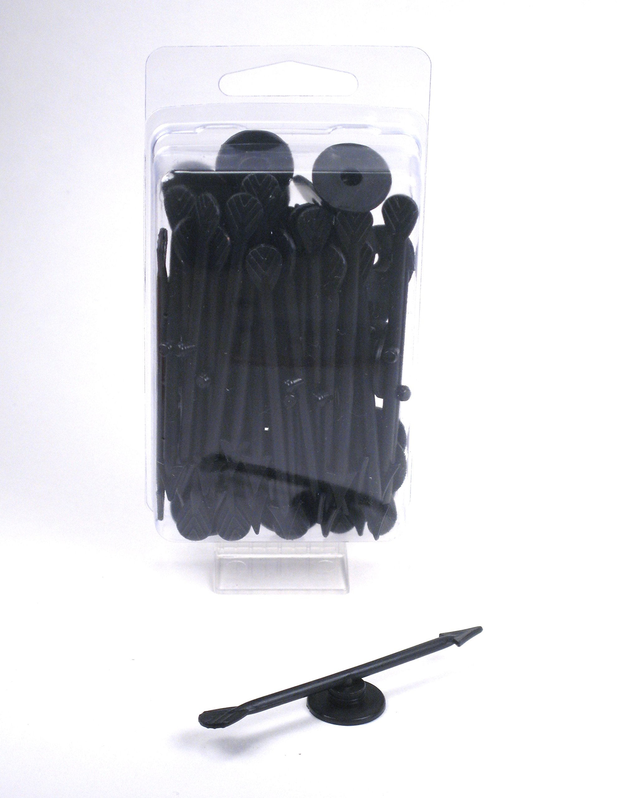 Board Game Arrow Spinners - 30 count pack - 7.5cm (3'') - Black by Hedral
