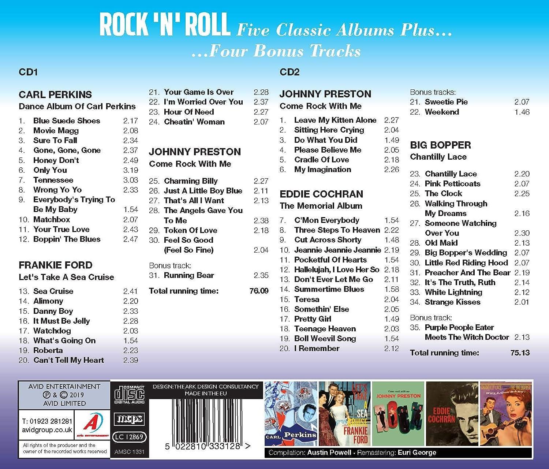 Carl Perkins Frankie Ford Johnny Preston Eddie Cochran Big Bopper Rock N Roll Five Classic Albums Plus Dance Album Of Carl Perkins Let S Take A Sea Cruise Come