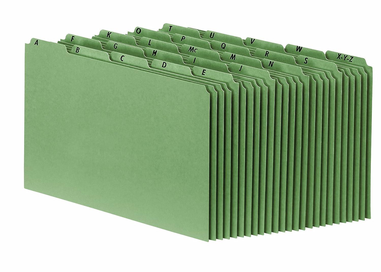 Pendaflex Heavyweight Alphabetic File Guides, Plain Tabs, Legal, Green Esselte Canada P625U