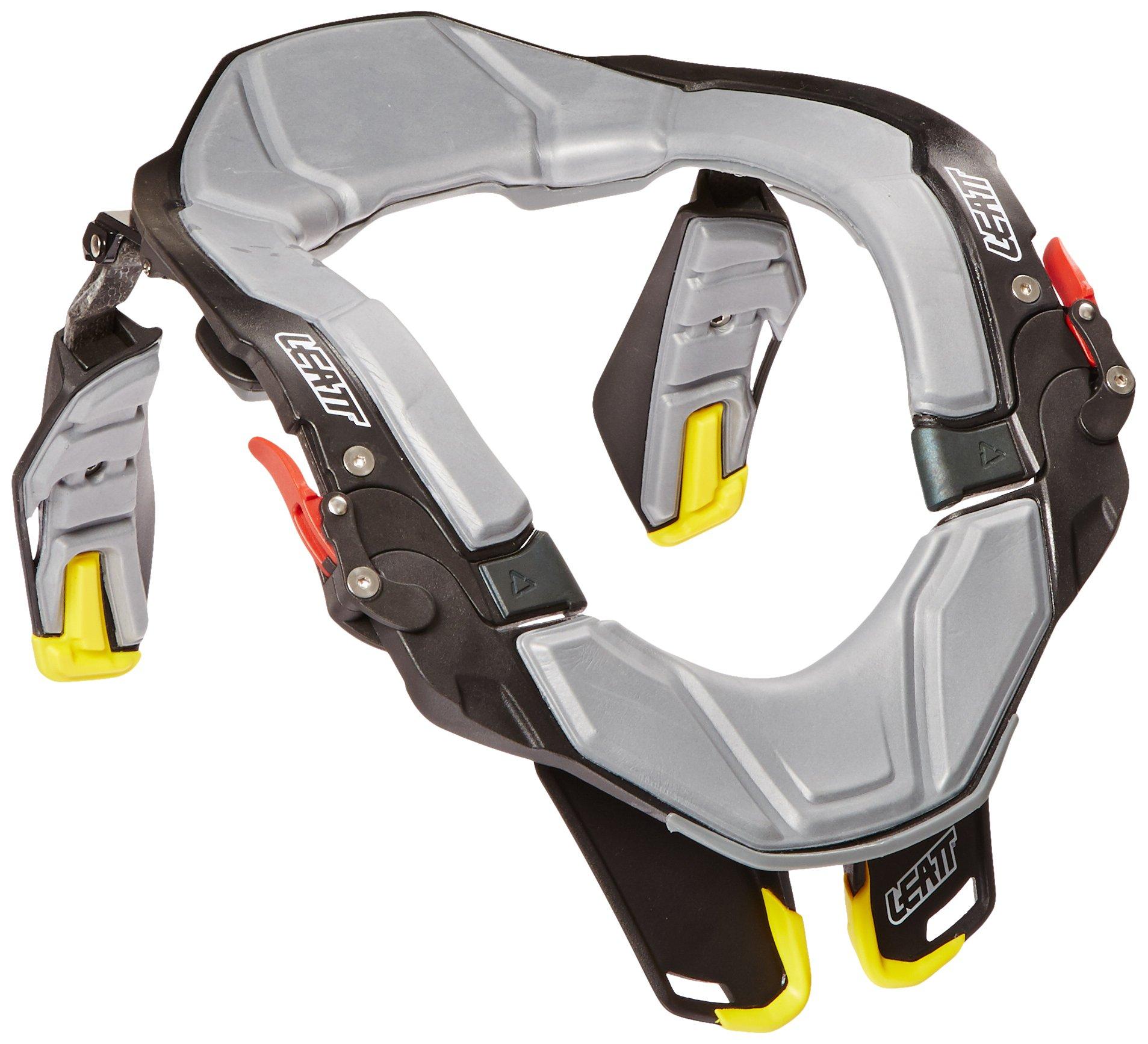 Leatt STX Road Neck Brace (Black/Grey/Yellow, Large/X-Large)