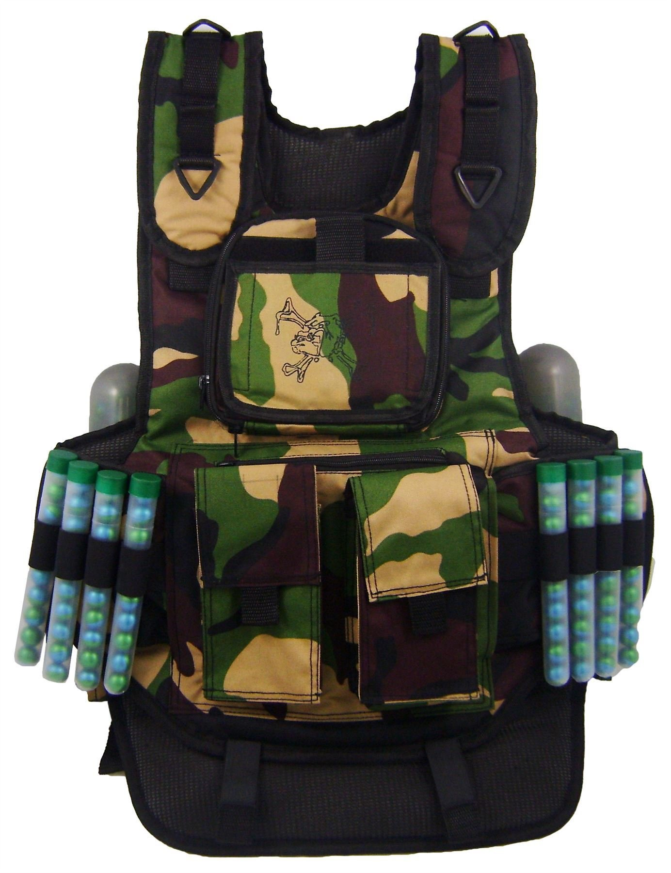 Maddog Sports Tactical 6-Pod Paintball Harness Vest - Camo by MAddog