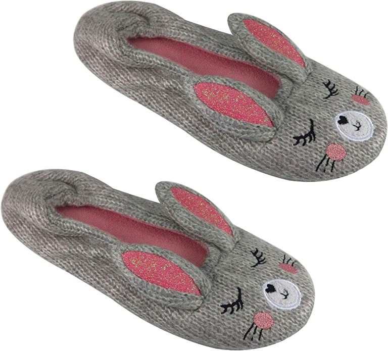 Baby Boys Girls Indoor House Slippers Anti-Slip Shoes Socks Pig Bear Rabbit
