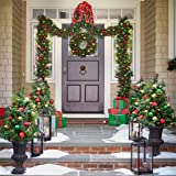 Brylanehome Cordless Battery-Operated Led 9' Pine Garland (Green,0)