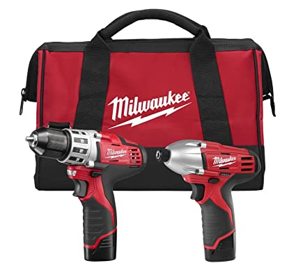 "milwaukee 2494-22 m12 cordless combination 3/8"" drill / driver and 1 ..."