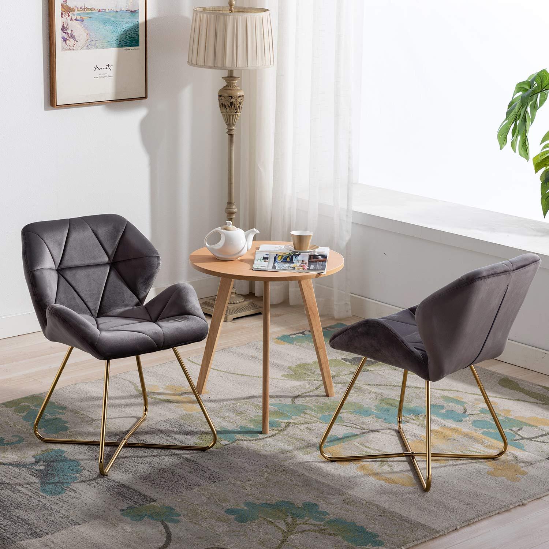 Gloop Hallo Home® set med 2 matsalsstol köksstol fåtöljstol fåtölj stol stol stol klädsel stol matstol stol stol set svart Grå x 2 st