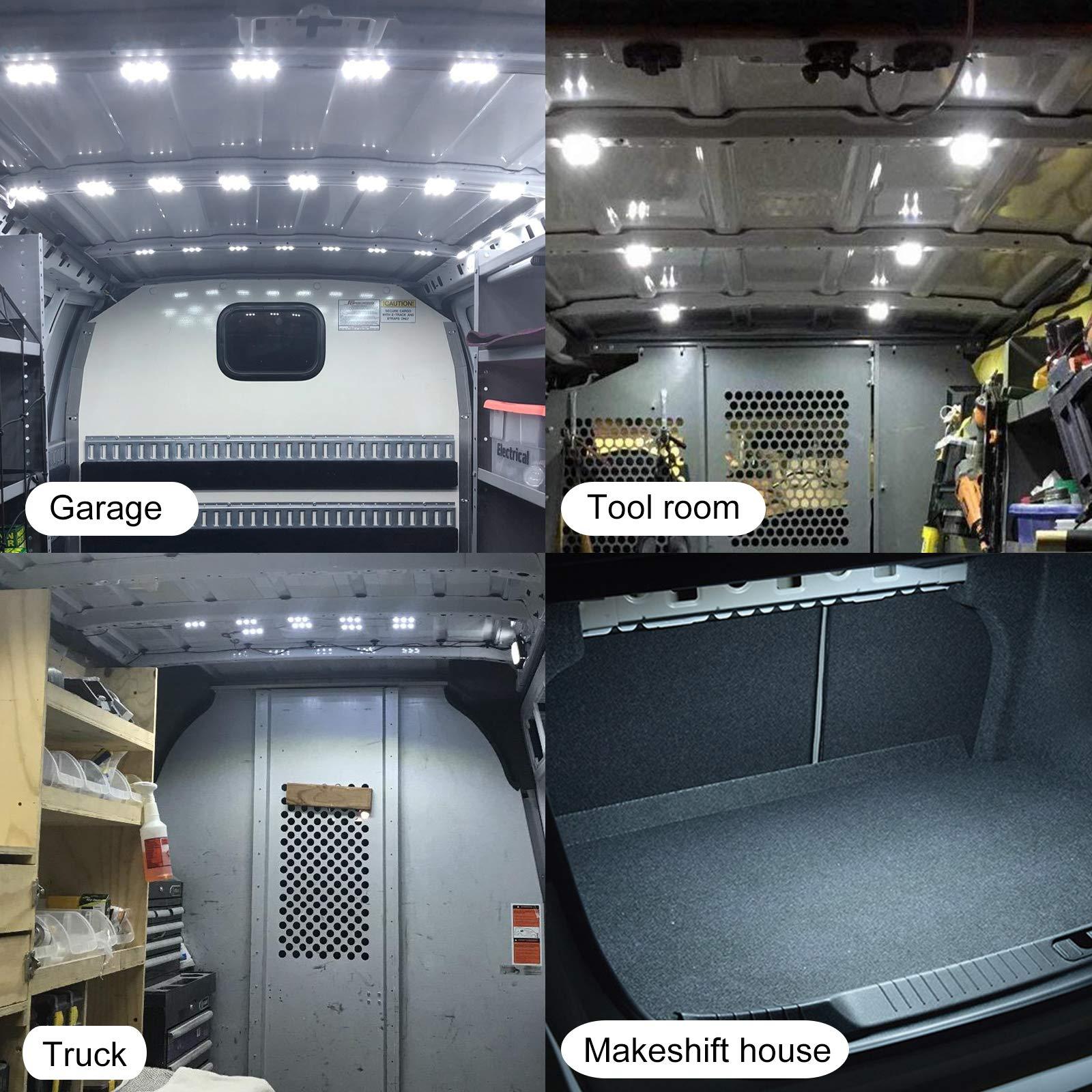 ROYFACC 60 LED Car Interior Light Bright White Lighting Dome Lamp Ceiling Work Lights Kit for Van Truck Auto Car Vehicle Caravan DC 12V