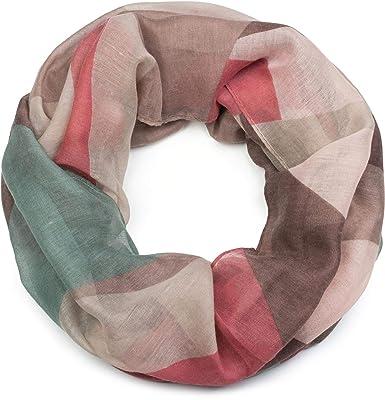 styleBREAKER Écharpe loop pour femme avec motif géométrique à triangles en  zigzag, tissu tubulaire, 15786324062