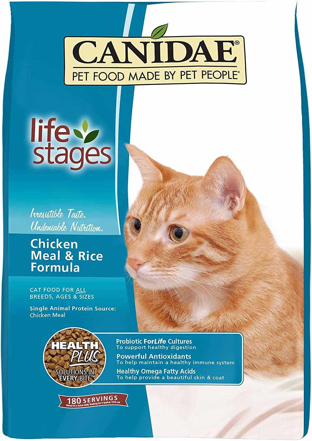 Canidae All Life Stages Dry Cat Food, Chicken Meal and Rice, 4lbs