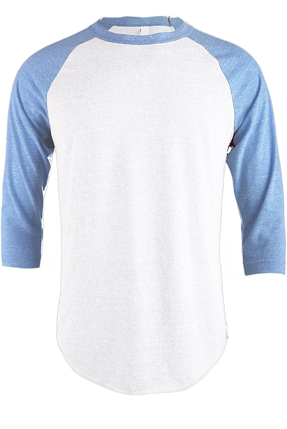 5079a53feea TL Men s Basic 3 4 Sleeve Baseball Top Fitted Tri-Blend Raglan T-Shirt at  Amazon Men s Clothing store