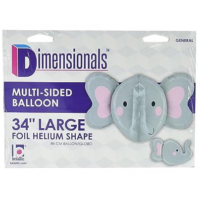 "Burton & Burton Elephant Head Shape Toy Foil Balloon, 34"": Toys & Games"
