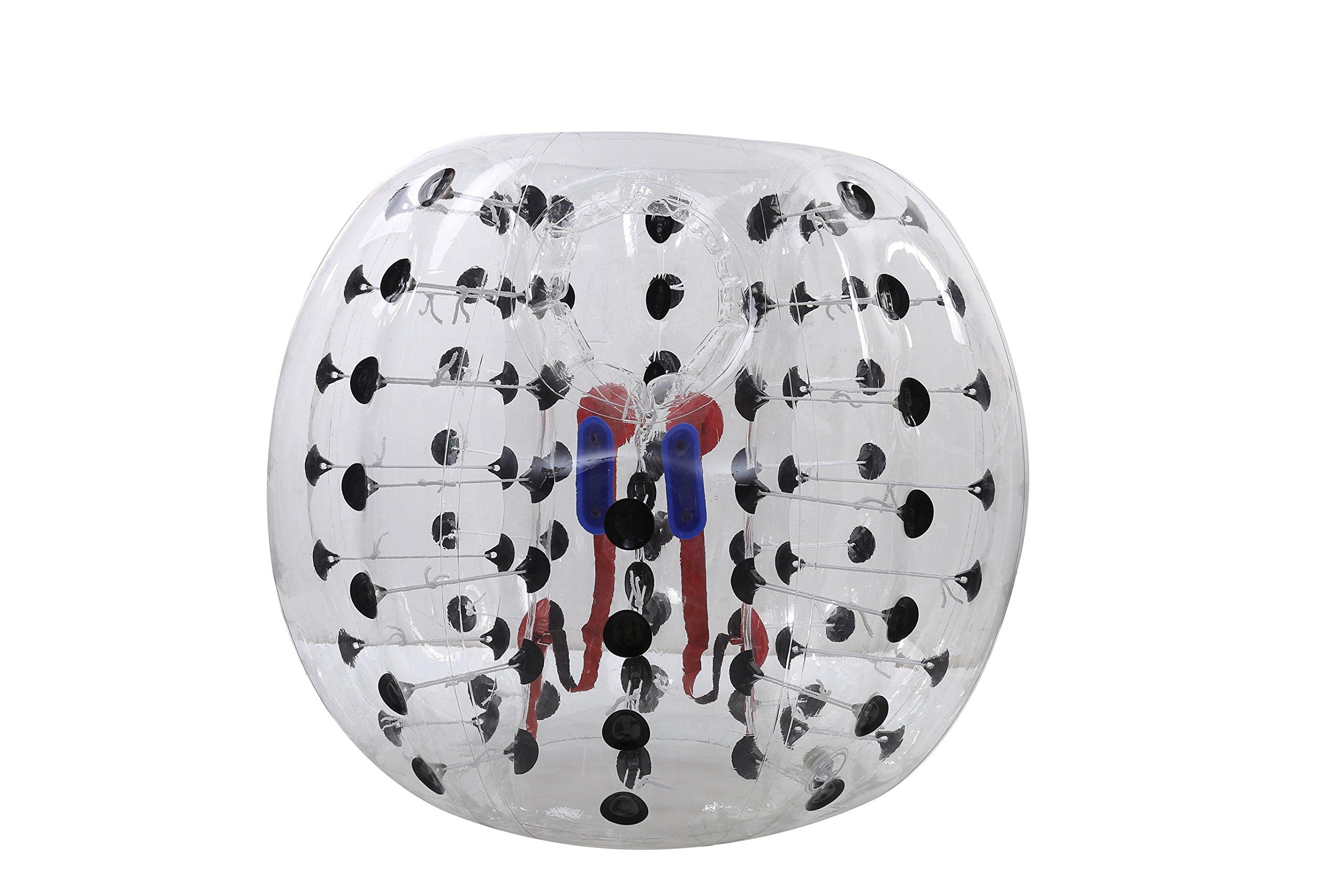 Bubble Soccer Balls Dia 5' (1.5m) Human Hamster Ball, Bubble Football,Bumper Ball, Zorbing Ball, Knocker Ball, smash ball stress ball Loopy Ball ( New Black Dot) by Garybank (Image #2)