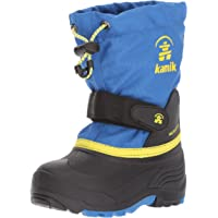 Kamik Boys' Waterbugwide Snow Boot Strong Blue/Sulfur 6 Wide US Big Kid