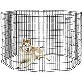 MidWest Homes for Pets Foldable Metal Exercise Pen / Pet Playpen, 8 Panels Each