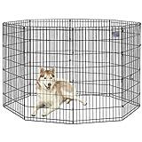 midwest homes for pets foldable metal exercise pen pet playpen 8 panels each