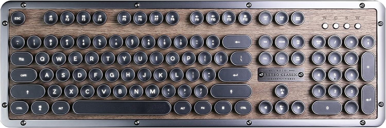 Azio Retro Classic Bluetooth (Elwood) - Luxury Vintage Backlit Mechanical Keyboard