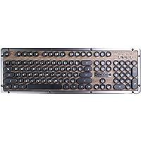 Azio MK-RETRO-W-01B-US Teclado Mecánico Clásico Retro USB, Color Madera con Negro
