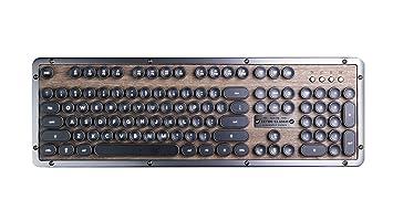 Azio Retro Classic Bluetooth (Elwood)   Luxury Vintage Backlit Mechanical Keyboard by Azio