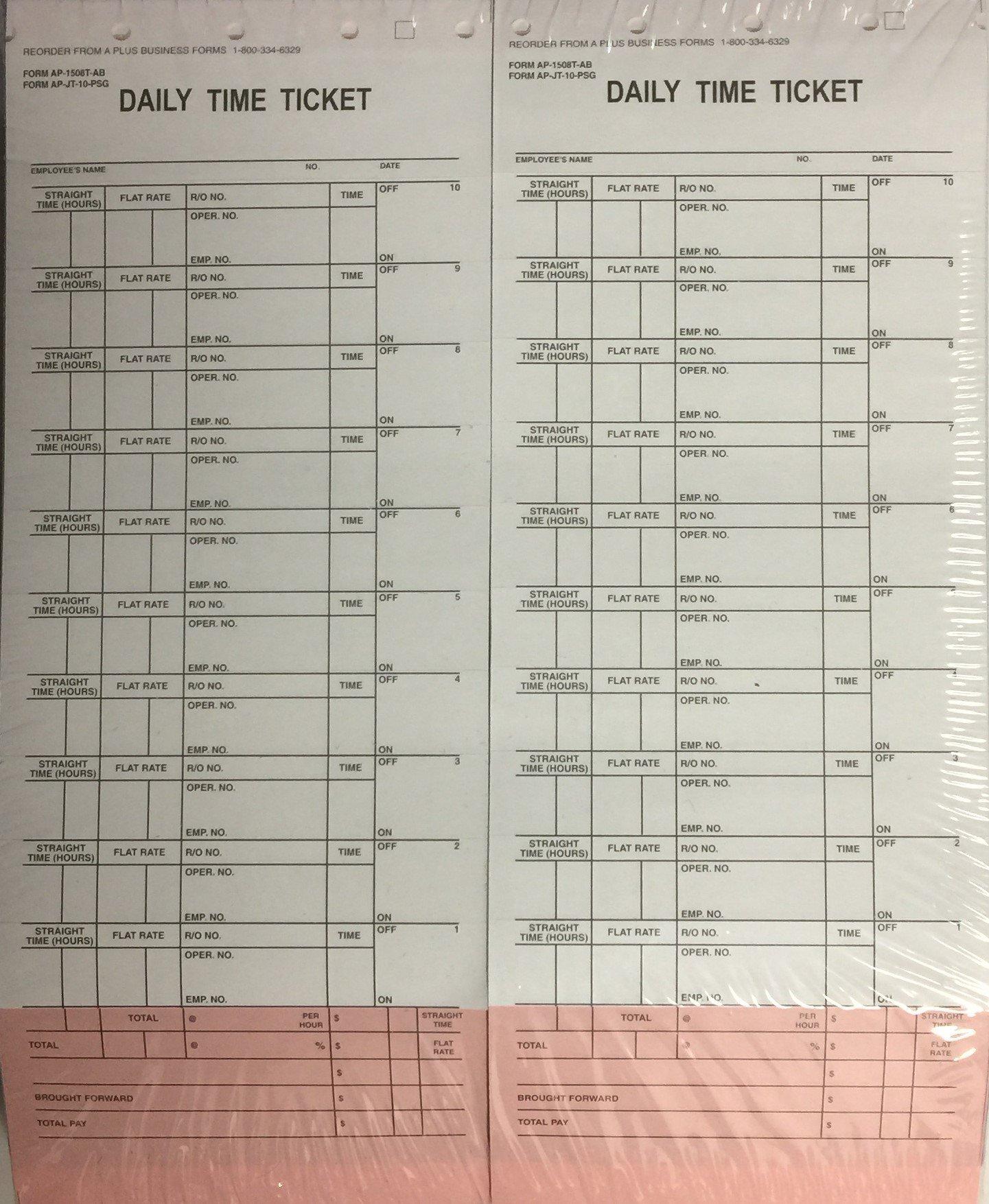 10 Label Job Time Tickets/Flag Sheets (500/Pack) #1508 (V8) by A Plus Dealer Supply (Image #3)