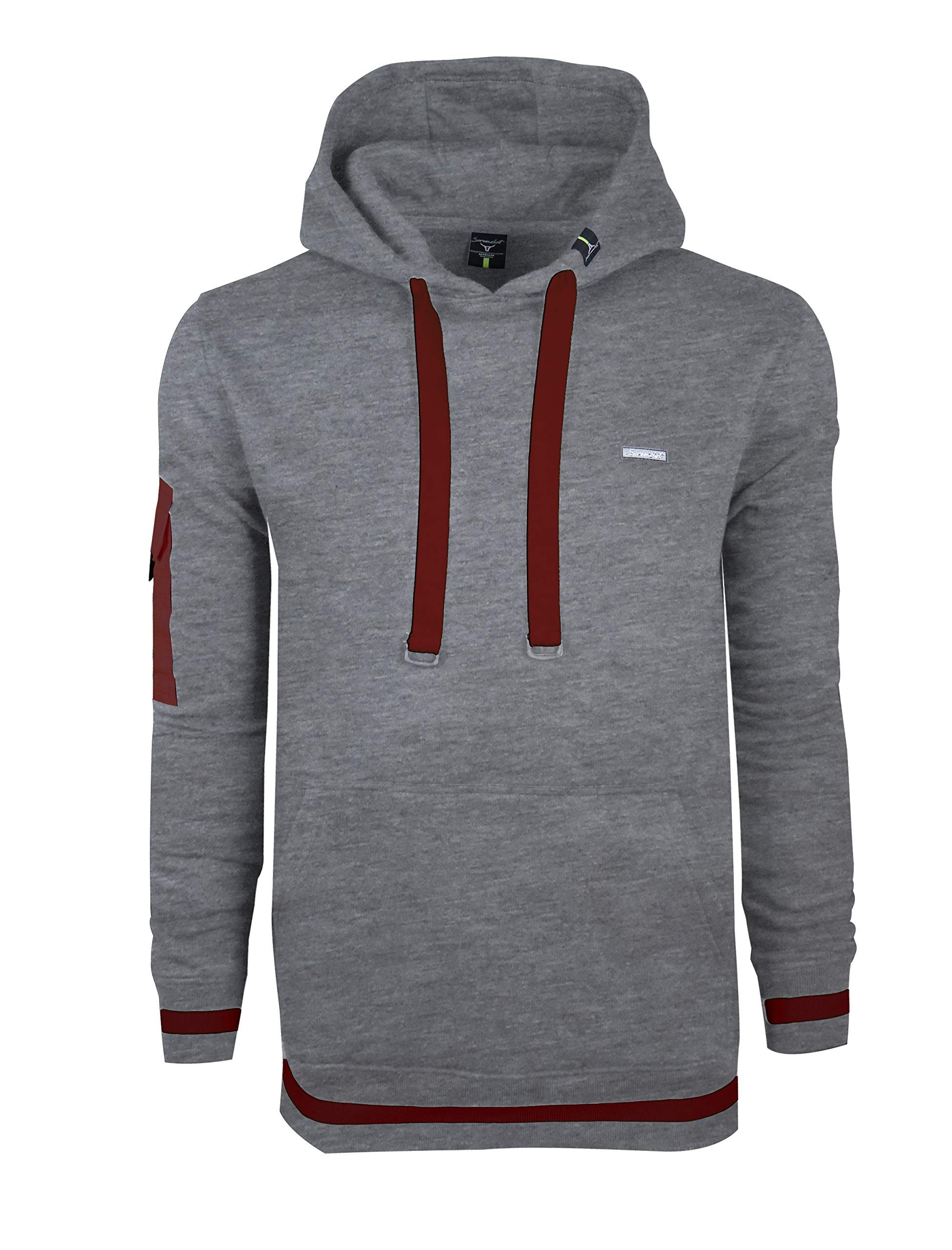SCREENSHOT SPORTS-F11960 Mens Premium Athletic Pullover Fashion Hoodie - Running Fitness Jogger Workout Active Sweatshirt-H.Grey-2XLarge by SCREENSHOT