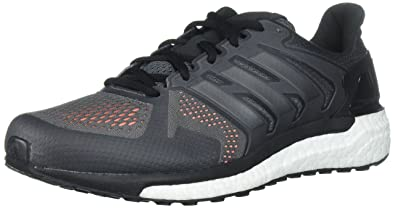 reputable site e6bb8 04b84 adidas Men s Supernova st m Running Shoe Grey Four Black Solar Orange 5  Medium