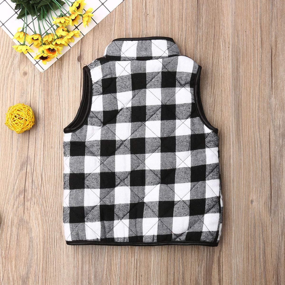 Toddler Baby Girls Vest Outwear Jacket Sleeveless Waistcoat Warm Winter Coats