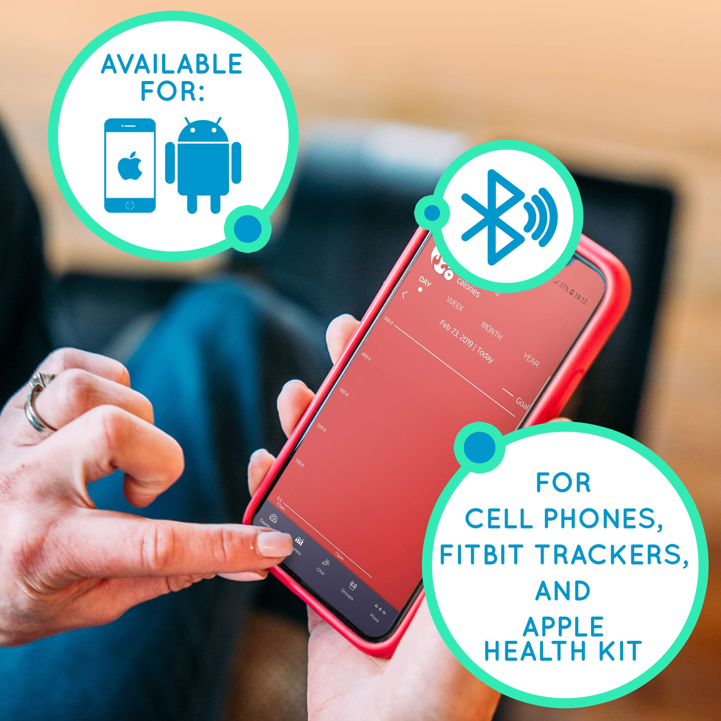 Cubii Pro Under Desk Elliptical, Bluetooth Enabled, Sync with Fitbit and HealthKit, Adjustable Resistance, Easy Assembly (Noir) by Cubii (Image #5)
