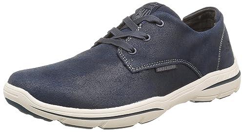 17ca74260286 Skechers Mens 64856 Lace-Up Flats Blue Size  7 UK