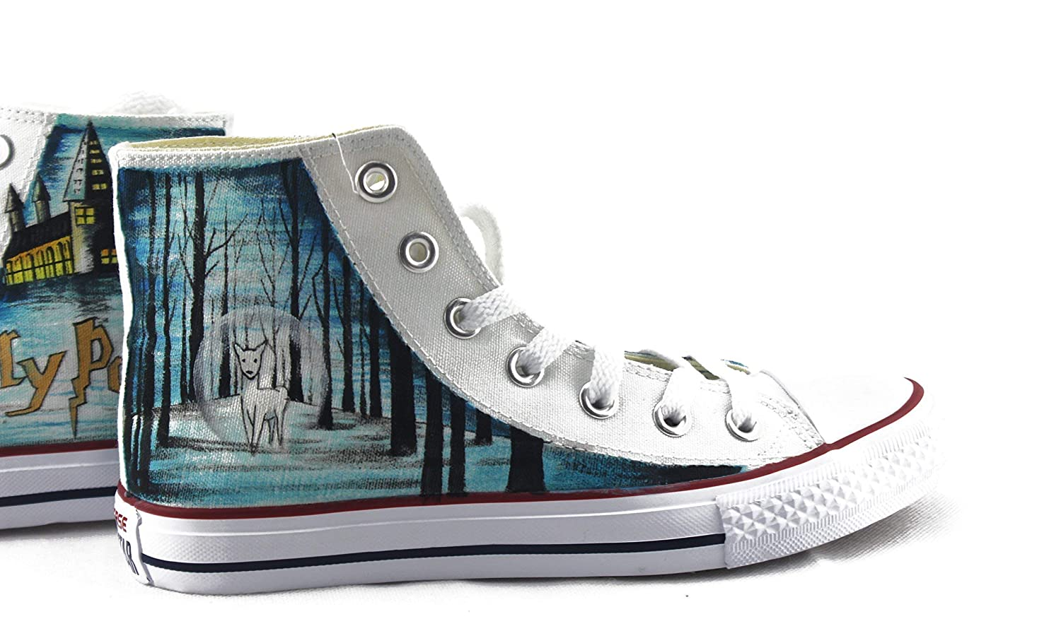 3e4f532d72f8 Harry potter sneakers hand painted shoes custom men jpg 1500x910 Converse  chuck harry potter related