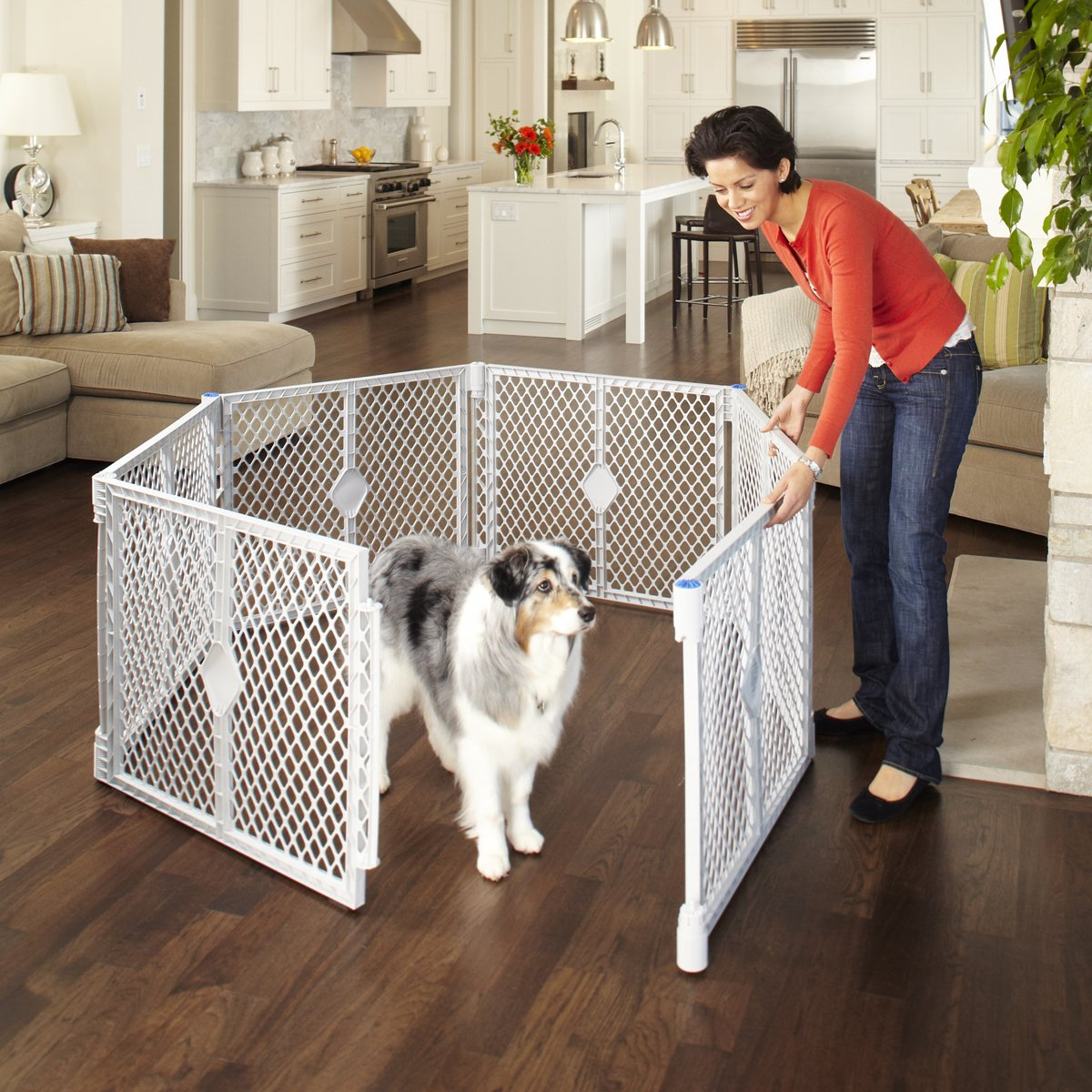 North States SUPERYARD XT Baby/Pet Gate & Play Yard by North States (Image #7)