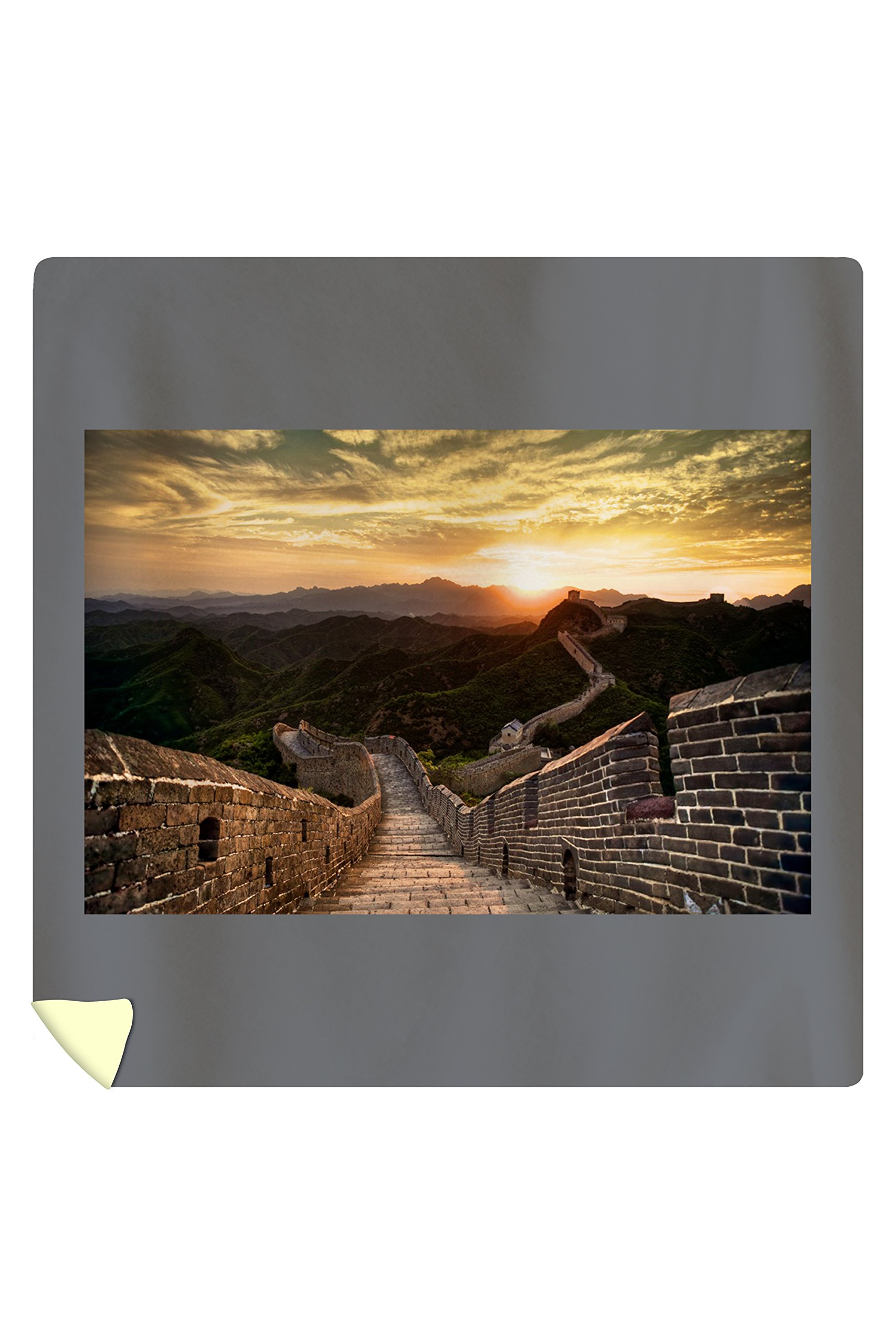Great Wall of China - Sunset (88x88 Queen Microfiber Duvet Cover)