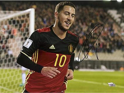 71a028656b5e Image Unavailable. Image not available for. Color  Eden Hazard Belgium  Autographed ...