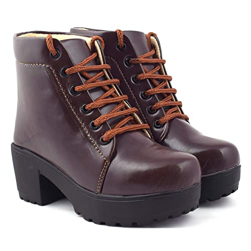 a92f1a4820ef8 BEONZA Women High Neck Boots Shoes  Buy Online at Low Prices in India -  Amazon.in
