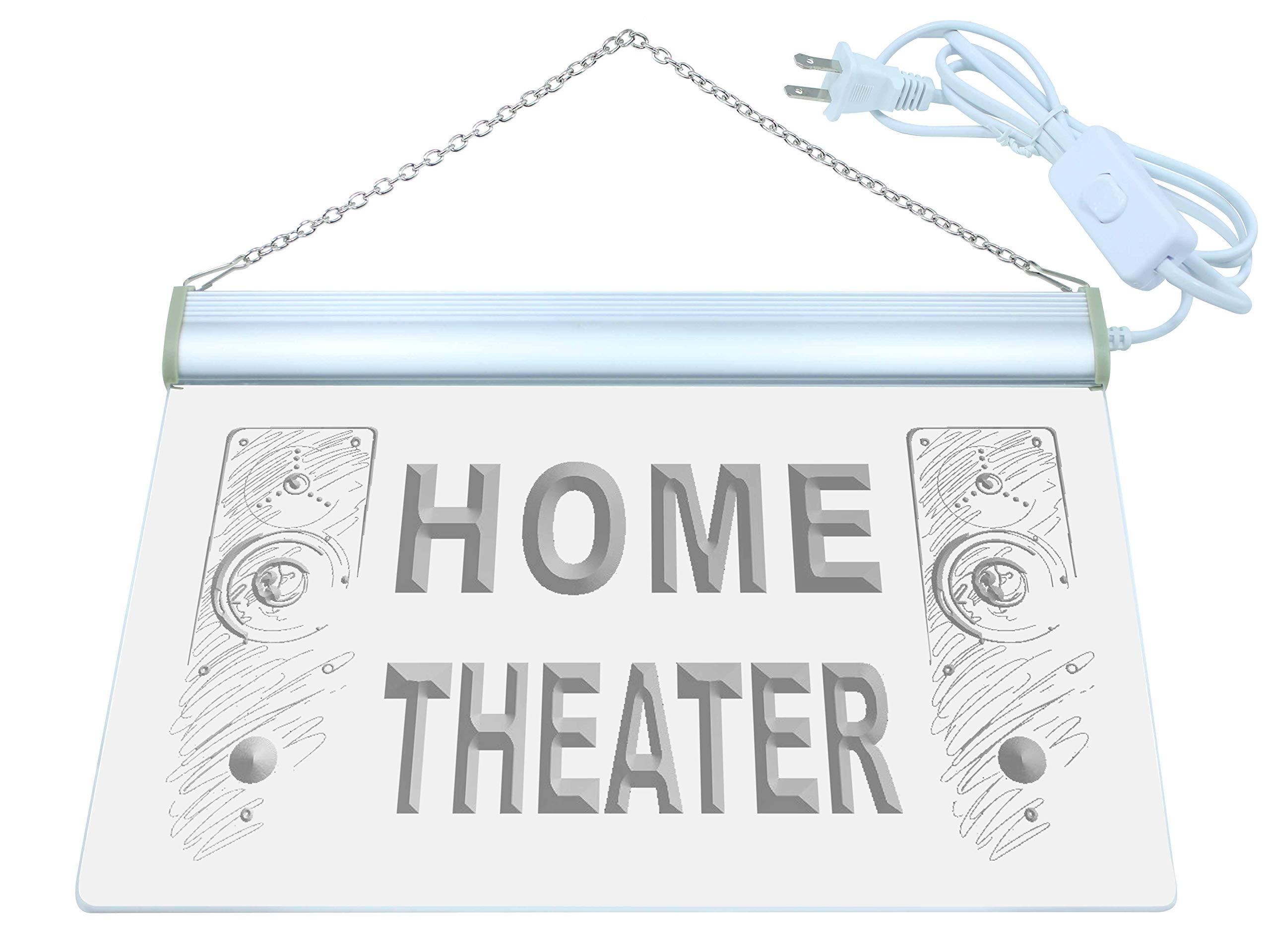 ADV PRO Home Theater Speaker Hi Fi Audio LED Neon Sign Green 12'' x 8.5'' st4s32-j108-g