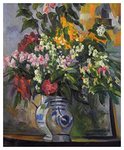 Amazon Two Vases Of Flowers Paul Cezanne Hand Painted Oil