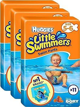 Huggies Little Swimmers Swim Pants Pañales Talla 5-6 Baby 12-18kg Jumbo Pack de 33: Amazon.es: Salud y cuidado personal