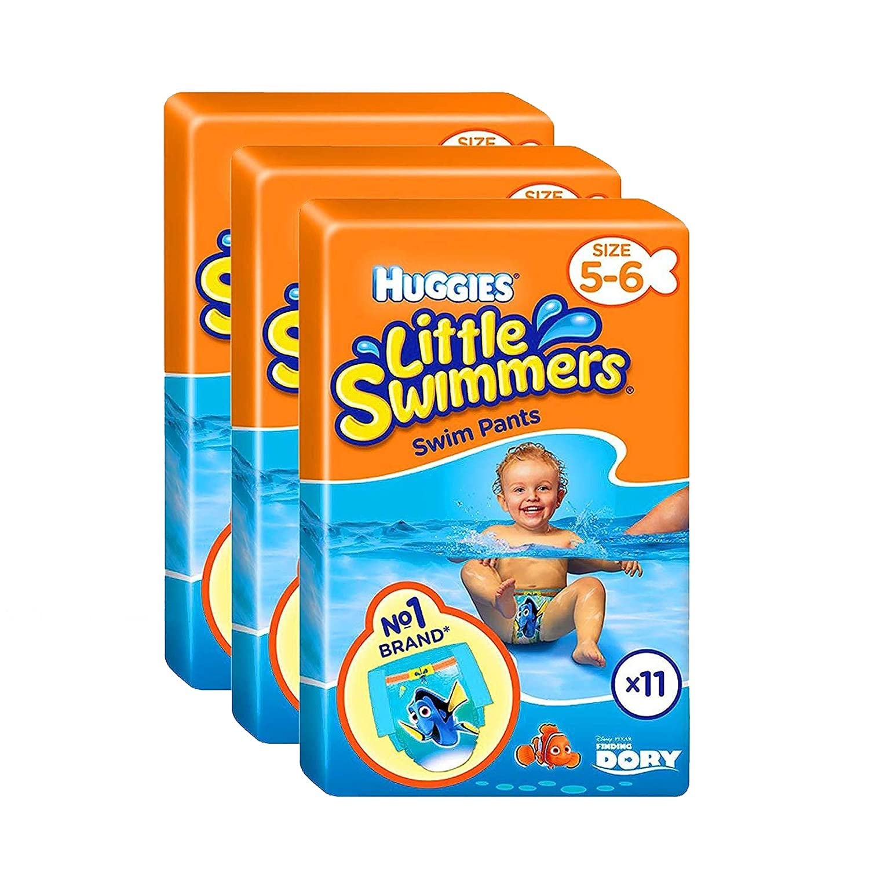 Huggies Little Swimmers Swim Pants Nappies Size 5-6 Baby 12-18kg Jumbo Pack of 33